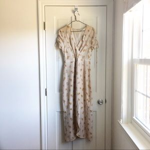 Madewell floral midi wrap dress